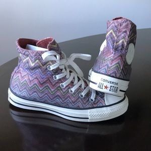 Missoni by converse 5.5M lace up all star sneakers